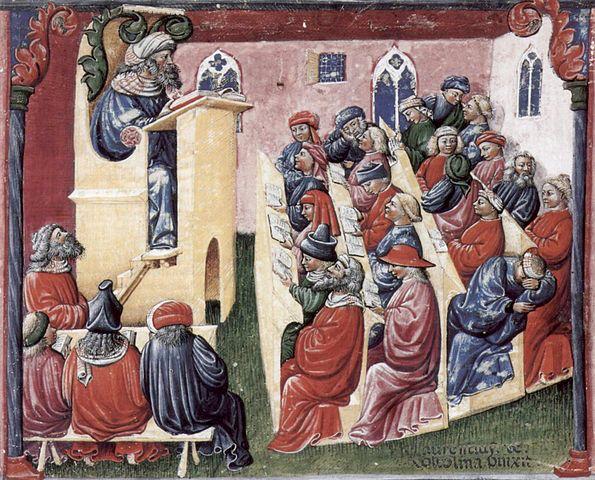 Larentius de Voltolina lecture, mid-1300s